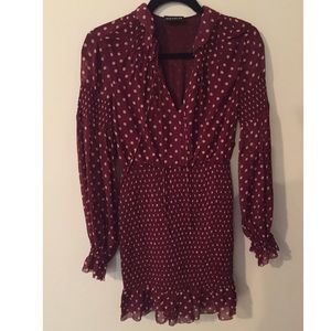 Nicholas Smocked Silk Mini Dress- Never Worn